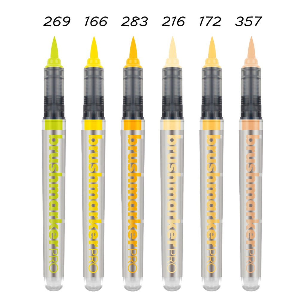 BrushmarkerPRO brush - yellow range - SINGLE PENS - Paper Kooka