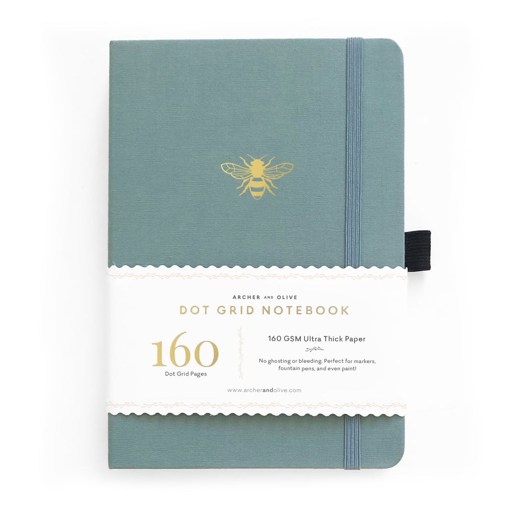 Archer & Olive Vintage Bee - A5 dotted, 160gsm journal - Paper Kooka