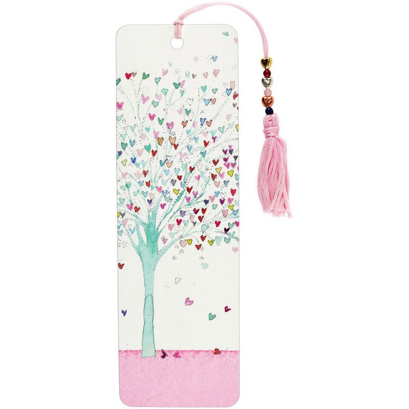 Beaded Bookmark - Tree of Hearts - Paper Kooka