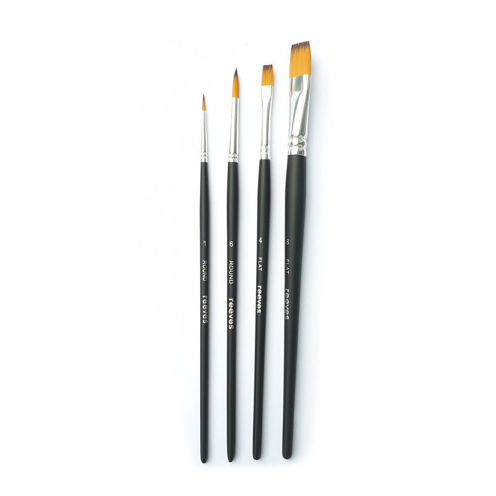 Reeves Watercolour - 4 Brush Set - Paper Kooka