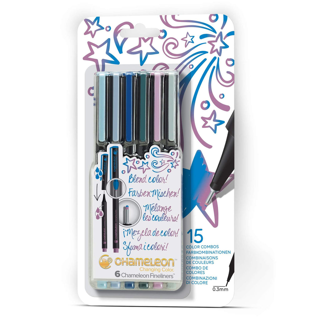 Chameleon Fineliners - Cool Colours 6 Pen Set - Paper Kooka