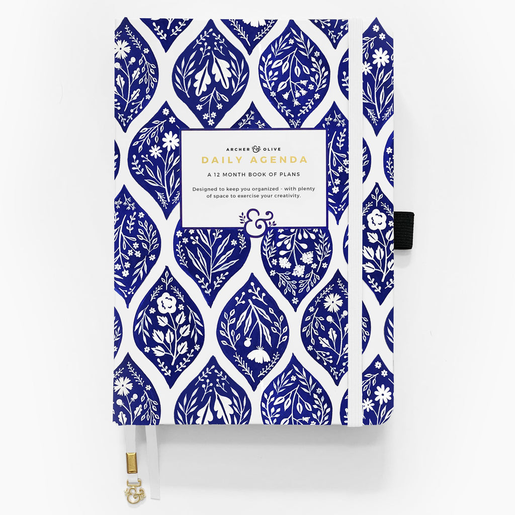 Fleur de Bleu - undated 12 month personal planner - Archer & Olive - Have a Point