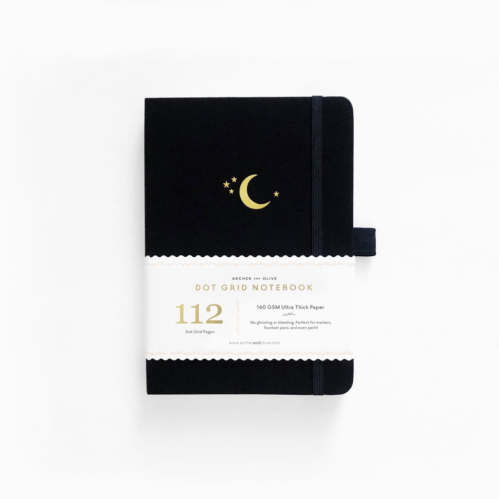 Archer & Olive Crescent Moon - B6 dotted, 160gsm journal - Paper Kooka