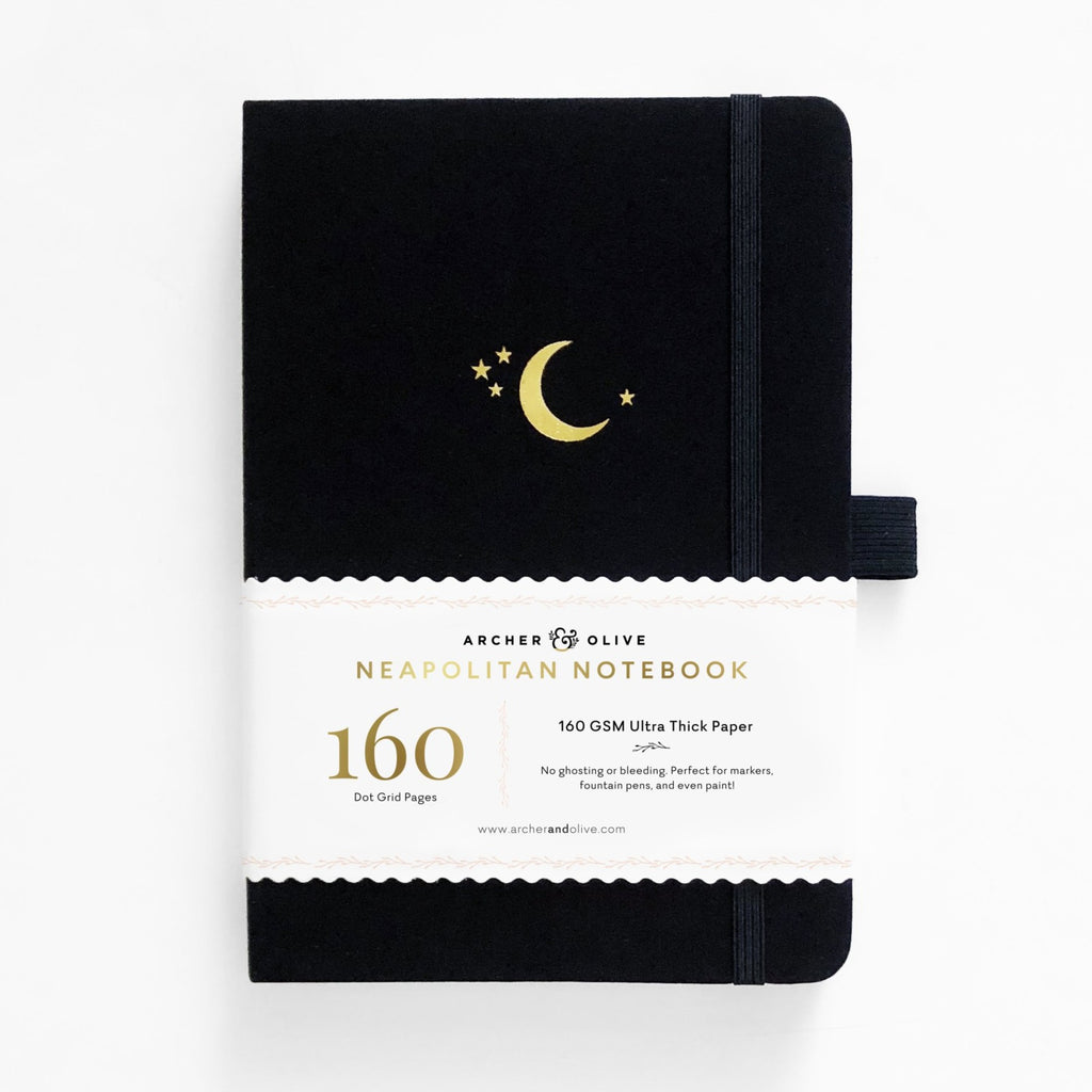 Archer & Olive Crescent Moon - A5 Neapolitan Notebook - dotted 160gsm - Have a Point