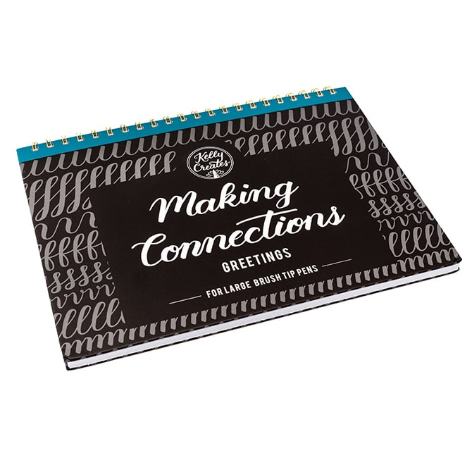 Large Brush Connections - Greetings Lettering Workbook - Paper Kooka