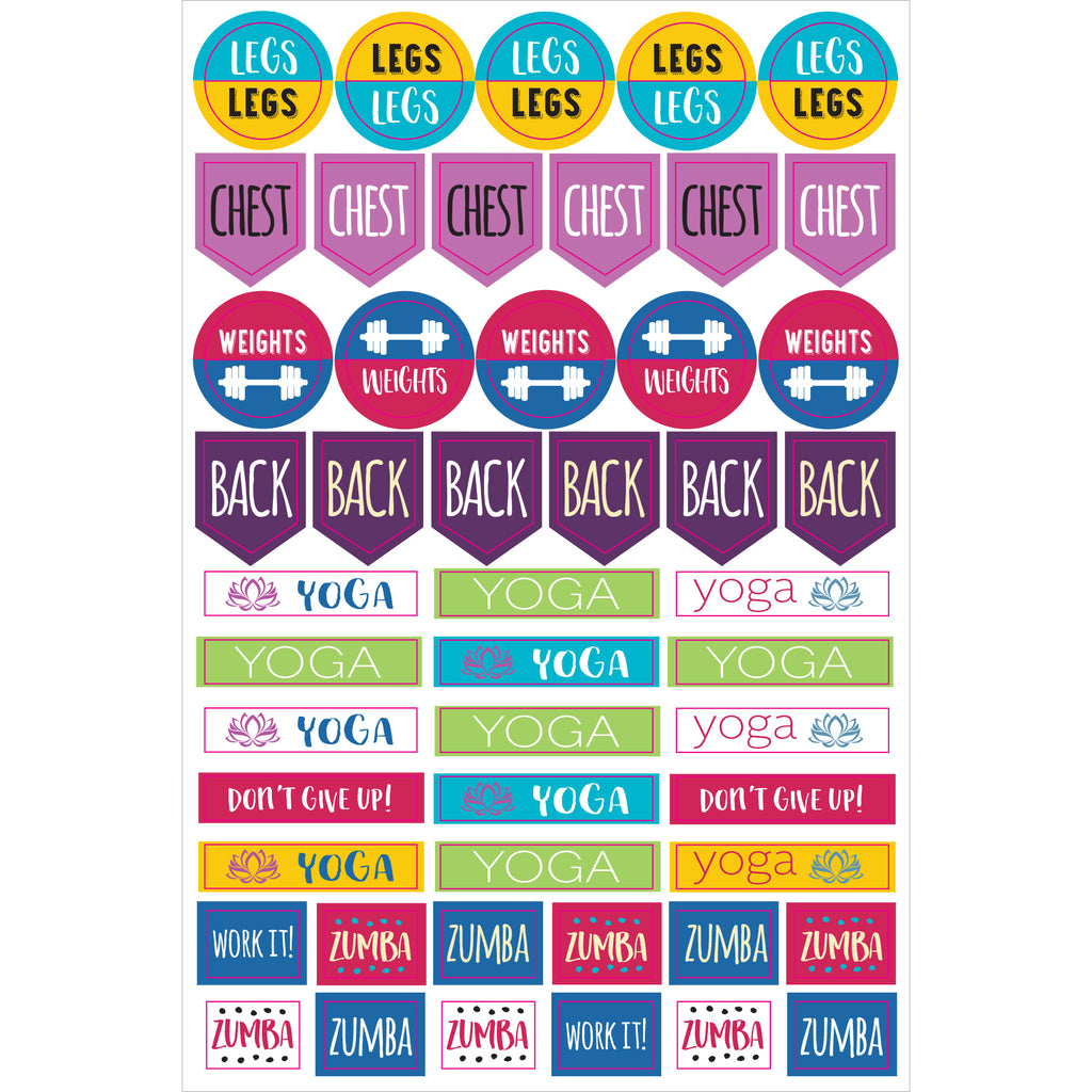 Health and Fitness Planner Stickers - 12 sheets - Have a Point