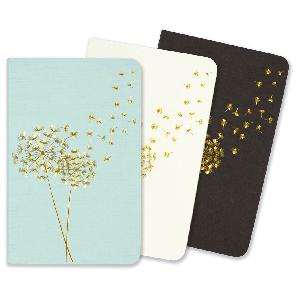 Mini dotted A6 Notebooks - Dandelion - Set of 3 - Paper Kooka