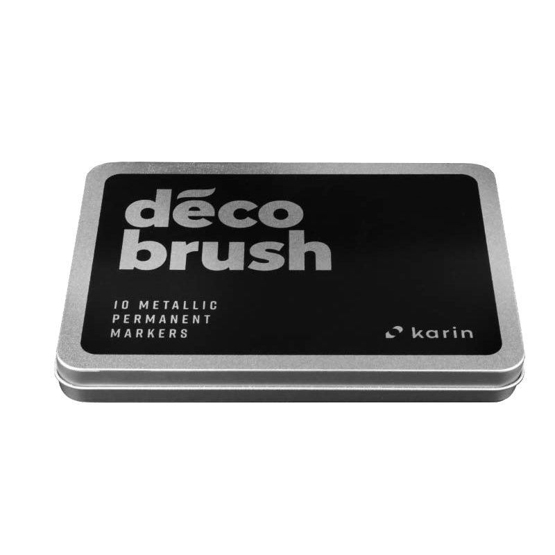 Karin DécoBrush METALLIC brush pens - 10 colours set - Paper Kooka