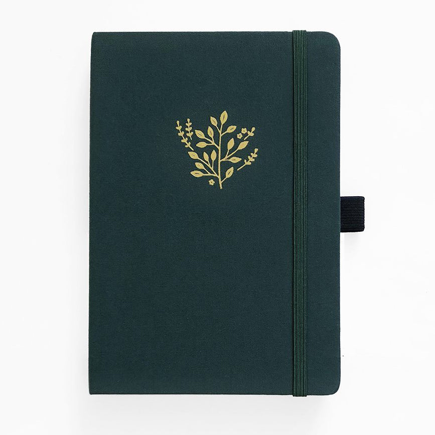 A5 Deep Green 192 Pages Dot Grid Notebook - Paper Kooka