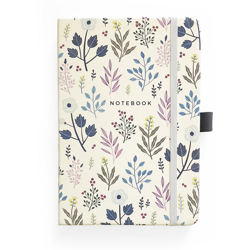 A5 Fall Flowers Dot Grid Notebook - Paper Kooka