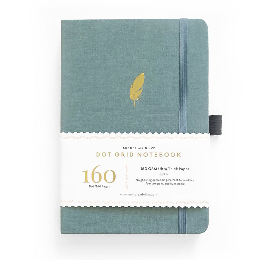 A5 Floating Feather Dot Grid Notebook - Paper Kooka