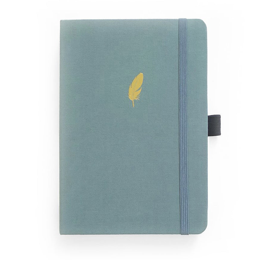 Floating Feather - A5 dotted, 160gsm journal - Archer & Olive - Have a Point