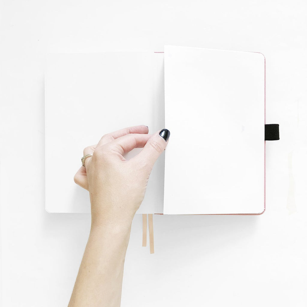 A5 Blush-A-Bye Dot Grid Notebook - Paper Kooka