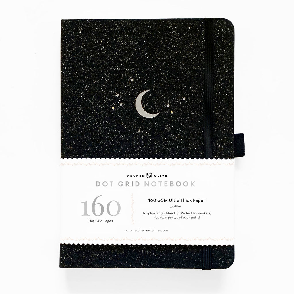 A5 Forest Night Dot Grid Notebook - Paper Kooka