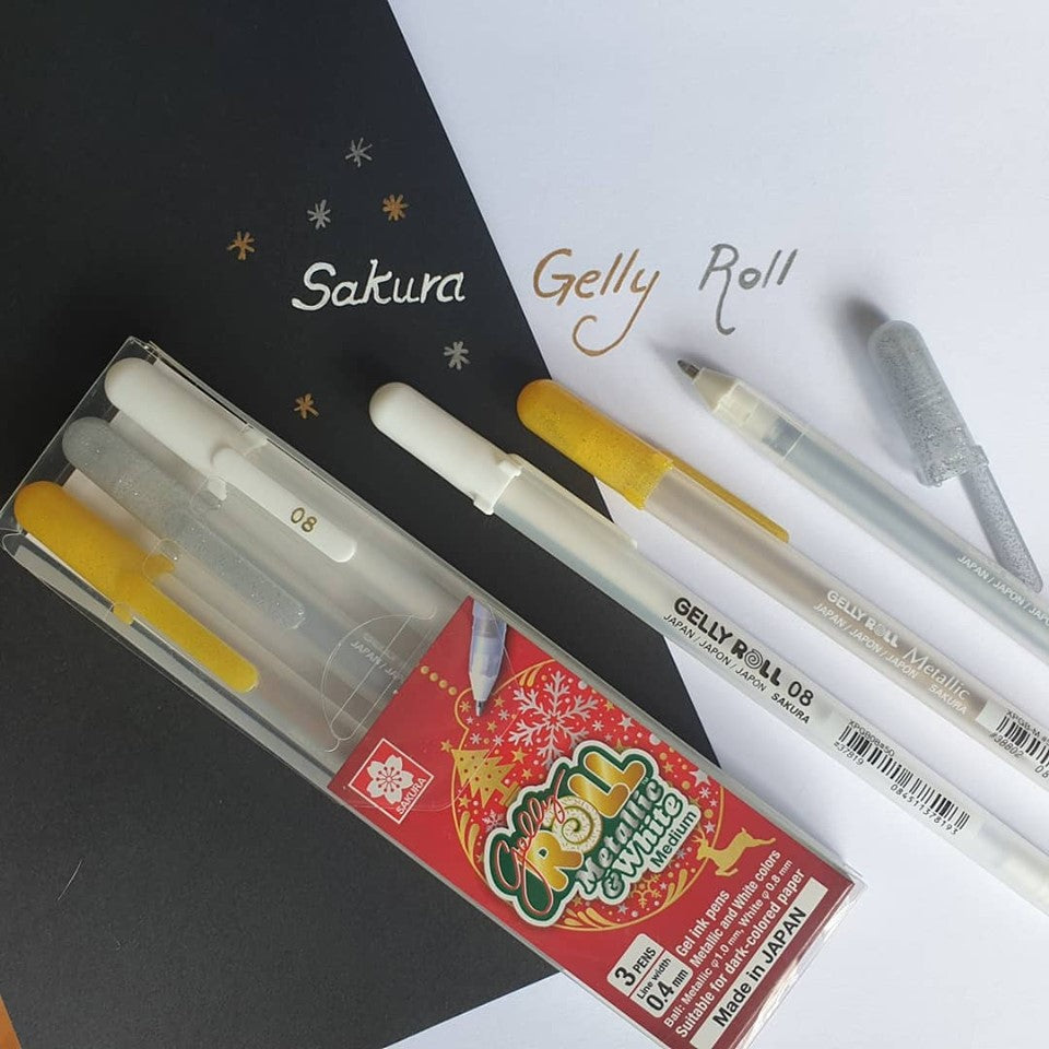 Gelly Roll White & 2 Metallic Set - Paper Kooka