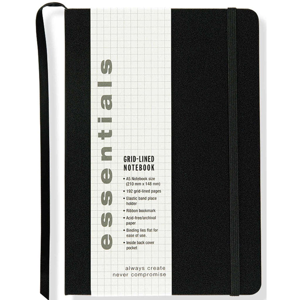 A5 Grid Notebook - Black - Have a Point