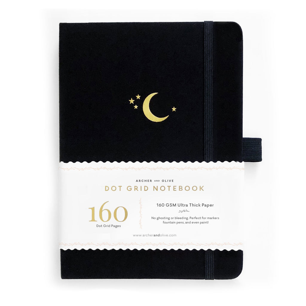 B5 Crescent Moon Dot Grid Notebook - Paper Kooka