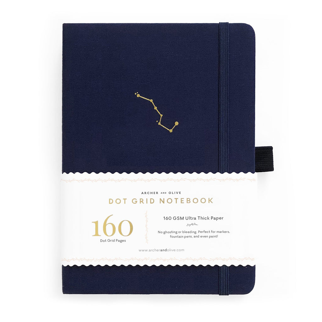B5 Night Sky Dot Grid Notebook - Paper Kooka