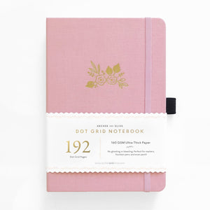 A5 Light Pink 192 Pages Dot Grid Notebook
