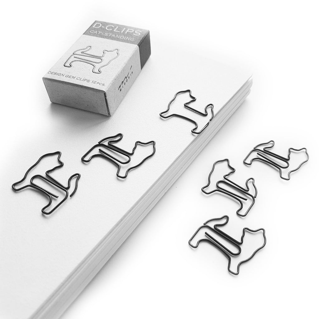 Standing Cat Paper Clips - Midori D-Clip - 12pcs - Have a Point