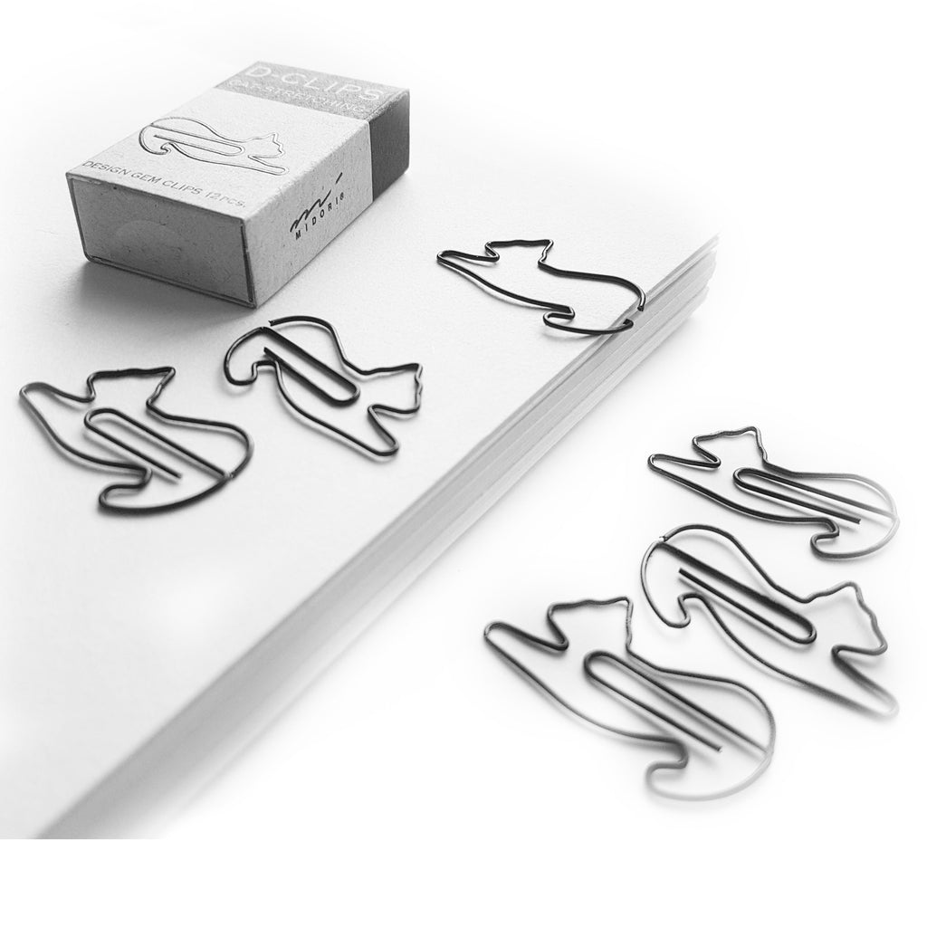 Stretching Cat Paper Clips - 12pcs - Paper Kooka