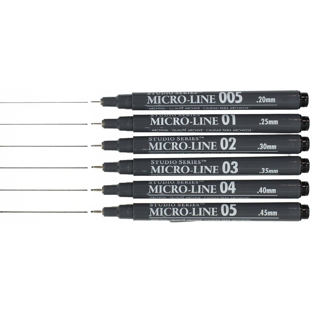 Micro-Line Pen Set of 6 - Have a Point