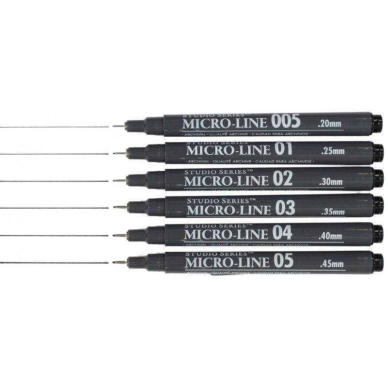 Micro-Line Pen Set of 6 - Paper Kooka