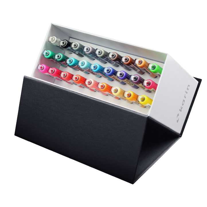 Karin BrushmarkerPRO Mini Box 26 colours + blender set - Paper Kooka