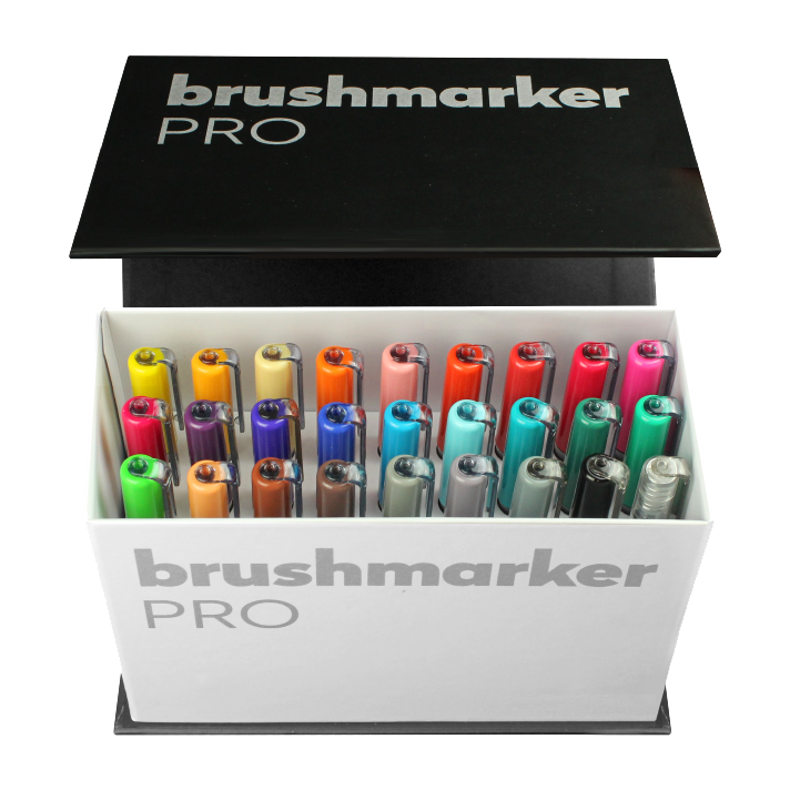 BrushmarkerPRO Mini Box 26 colours + blender set - Paper Kooka