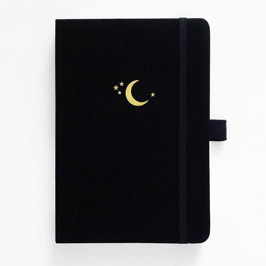 A5 Crescent Moon 192 Pages Dot Grid Notebook - Paper Kooka