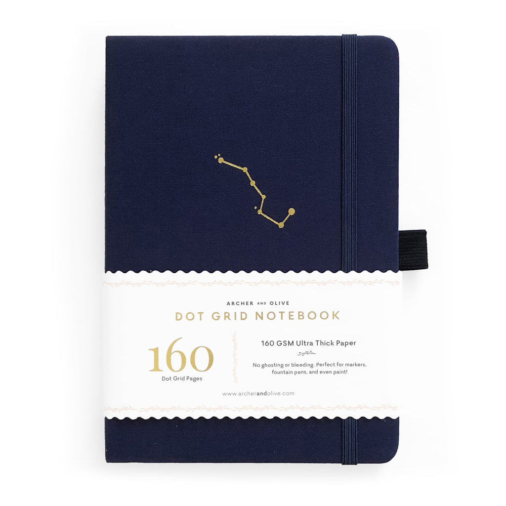 A5 Night Sky Dot Grid Notebook - Paper Kooka