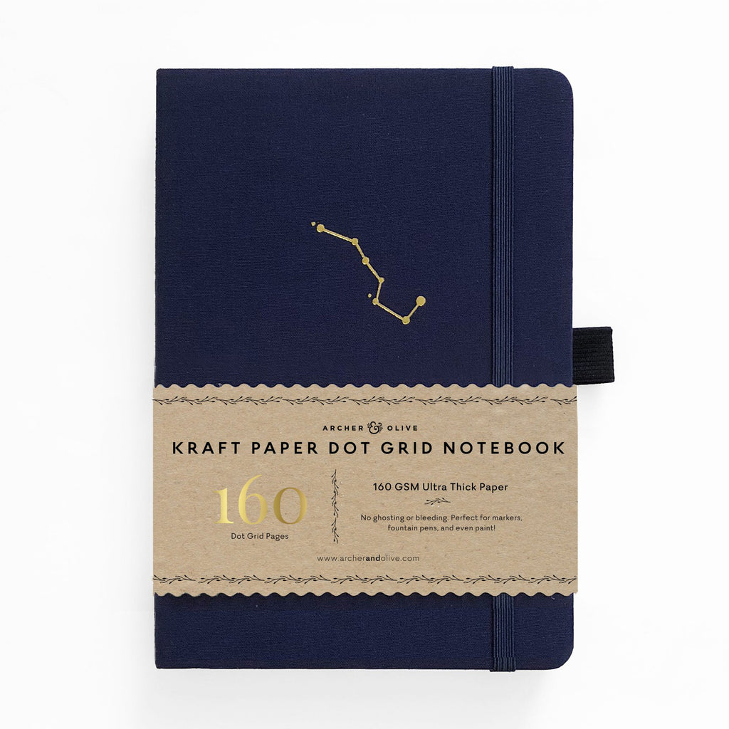 Archer & Olive Night Sky - Kraft Paper 160gsm dotted journal - Have a Point