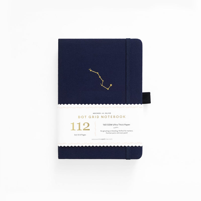 B6 Night Sky Dot Grid Notebook - Paper Kooka