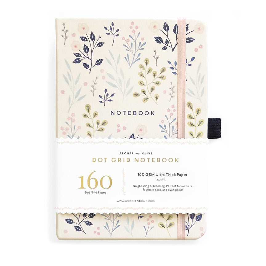 Archer & Olive Pink Flowers - A5 dotted, 160gsm journal - Have a Point