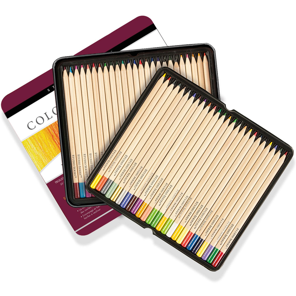 Deluxe Coloured Pencil Set - 50 Colours - Paper Kooka