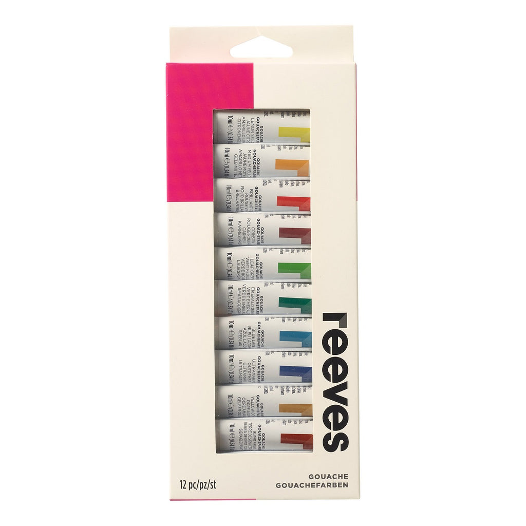 Reeves Gouache 12ml - Set of 12 Colours - Paper Kooka