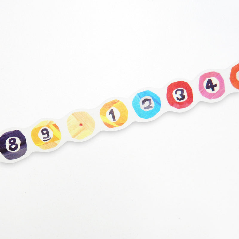 Rainbow Numbers washi tape - Paper Kooka