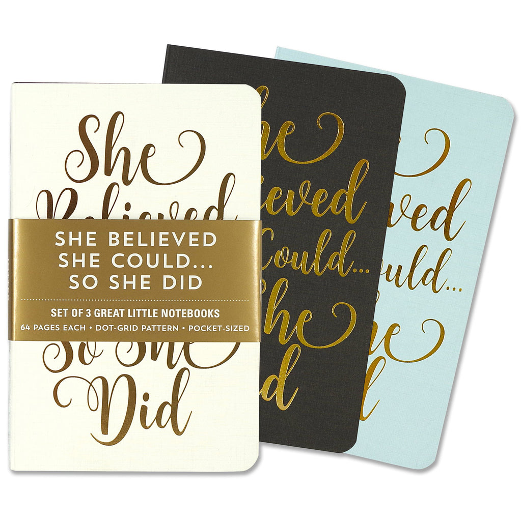 A6 Dotted Mini Notebooks Set of 3 - She Believed She Could - Have a Point
