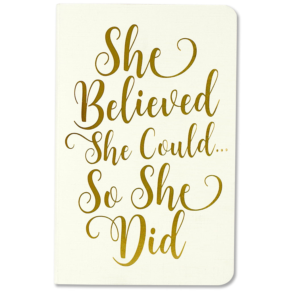 Mini dotted A6 Notebooks - She Believed She Could - Set of 3 - Paper Kooka