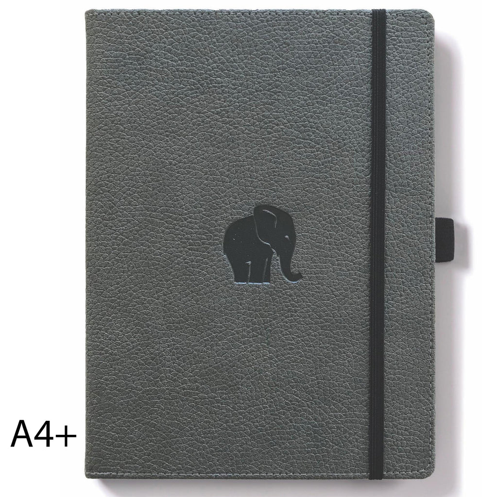 WILDLIFE - Grey Elephant - dotted A4+ journal - Paper Kooka
