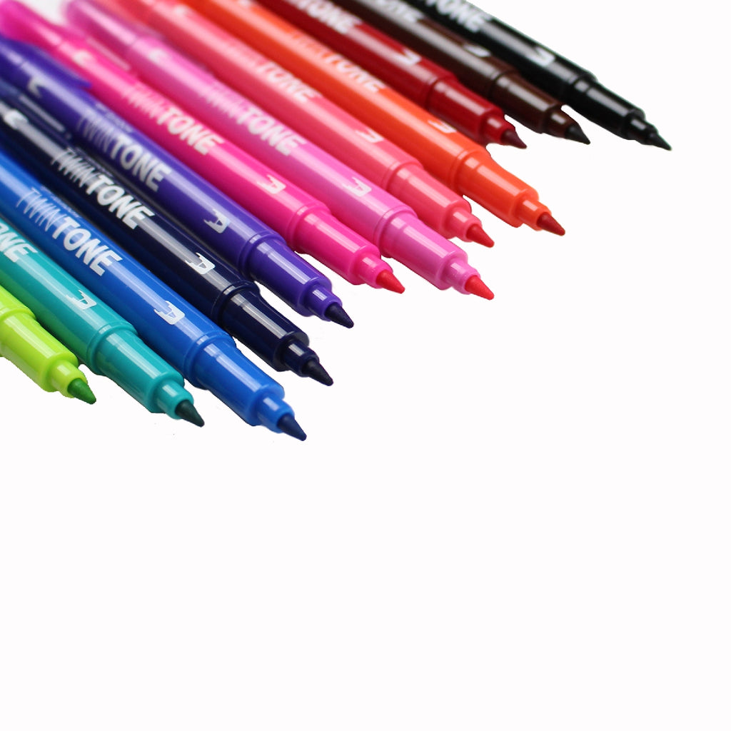 Tombow TwinTone Dual-Tip Markers - 12 Colour Brights Set - Have a Point