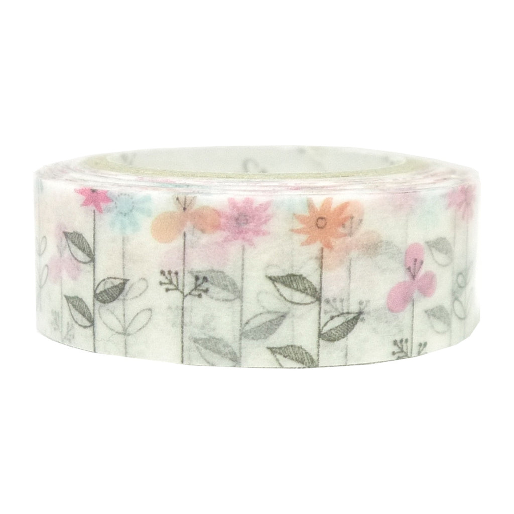 Wild Flowers washi tape - Paper Kooka