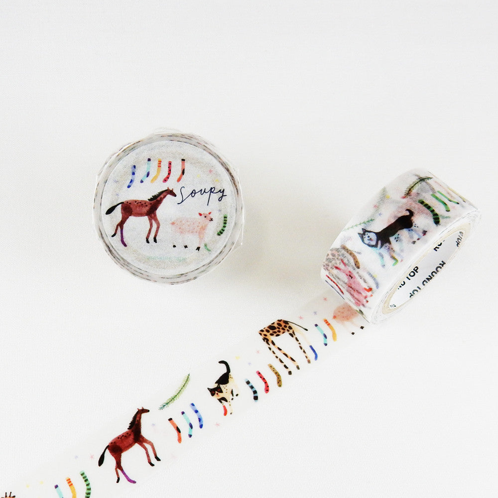 Funny Animals washi tape - Have a Point