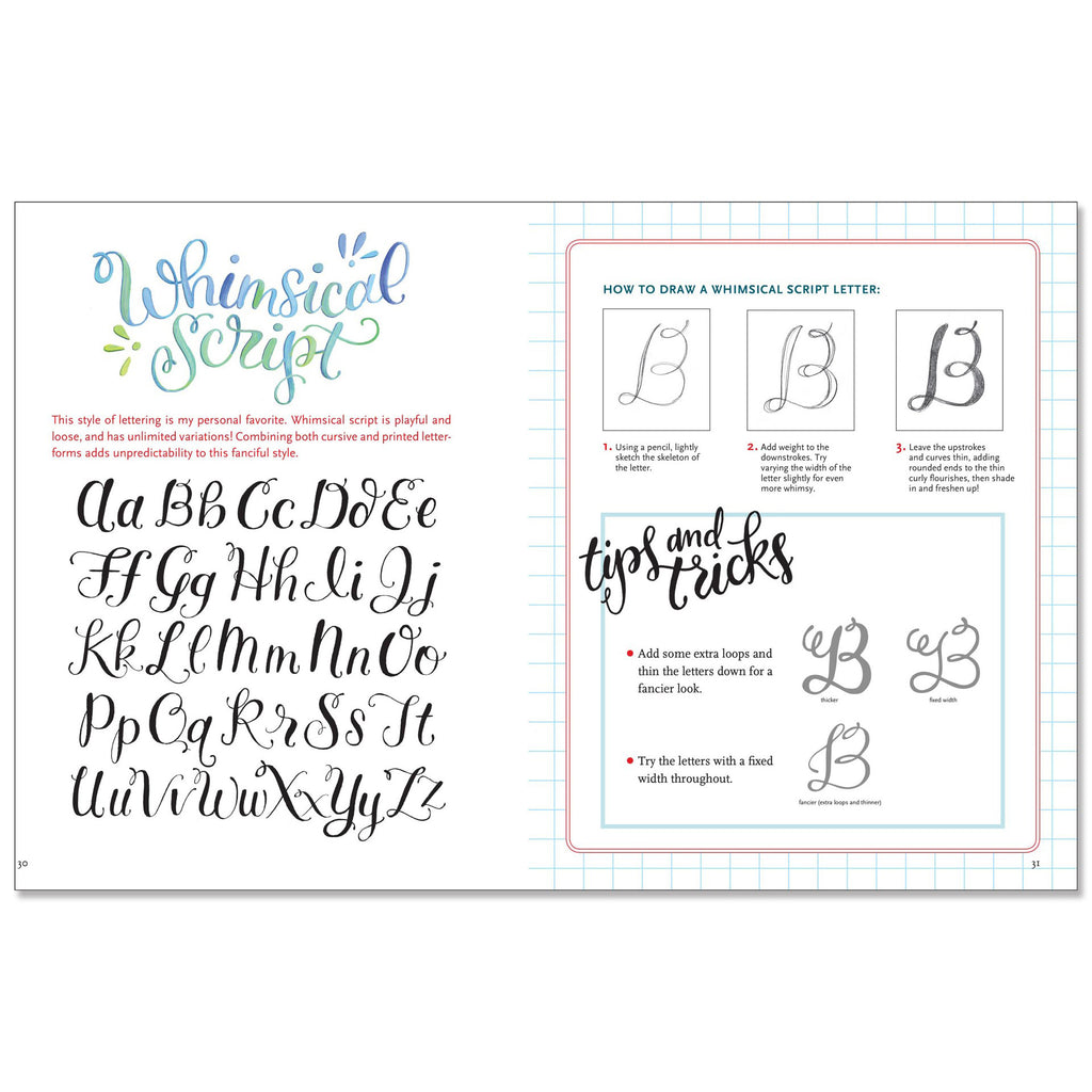 Hand Lettering - an interactive guide to the art of drawing letters - Paper Kooka