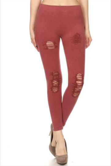 Coral Specialty Leggings (3 in Yoga Waist Band)