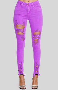 Neon Purple Specialty Jeggings