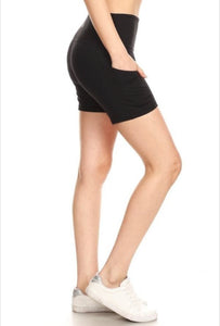 Solid Black Shorts (5 in Yoga Waist Band)