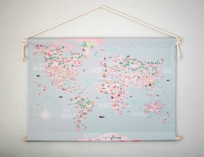World Fabric Hanging
