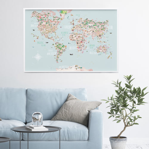 World Map Poster Print