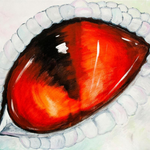Evanescere: Dragon eye painting